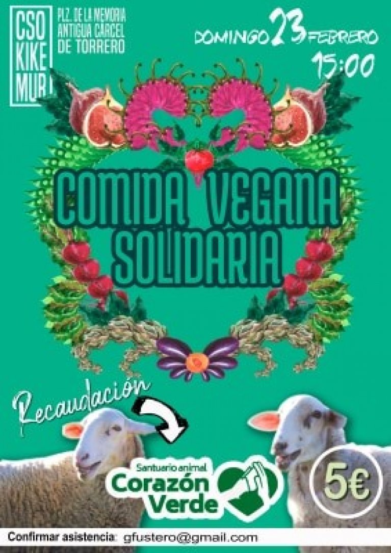 Comida solidaria en Zaragoza