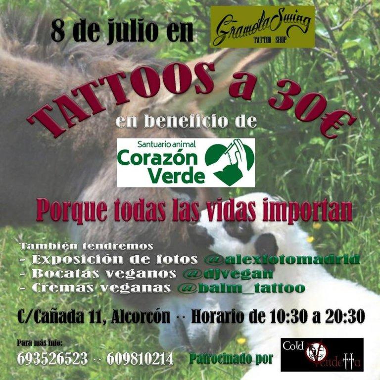 Tatuajes solidarios en Madrid